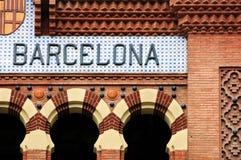 barcelona tecken arkivbild