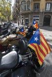 Barcelona 11th av September 2017, Spanien: Avbrytarmotocycleswi Royaltyfri Bild