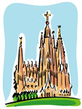 Barcelona (the Sagrada Familia) Royalty Free Stock Images