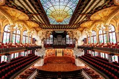 Barcelona Theater Symmetry. Taken in 2015 taken in HDR Stock Photography