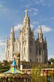 Barcelona Tibidabo Arkivfoton