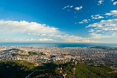 Barcelona from Tibidano, Barcelona, Spain. Stock Photo