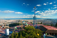 Barcelona from Tibidano, Barcelona, Spain. Royalty Free Stock Photos