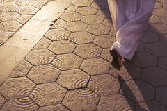 Barcelona tiled pavement Royalty Free Stock Photography