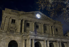 Barcelona time. A clock on the barcelona artistic building Royalty Free Stock Photo