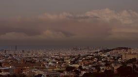 Barcelona Timelapse Sunset stock footage