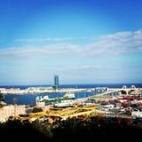 Barcelona. Top view sea telifrik Stock Images