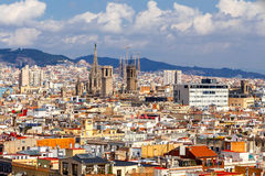 Barcelona. Top view Royalty Free Stock Photography