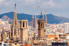 Barcelona. Top view Royalty Free Stock Image