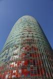 Barcelona, Toren Agbar Stock Foto's
