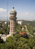 Barcelona - toren over de stad Royalty-vrije Stock Foto's