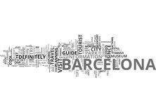 Barcelona Tour Word Cloud Concept Stock Photos
