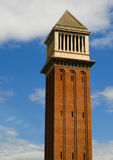 Barcelona tower. A tower building in central Barcelona, Spain royalty free stock images