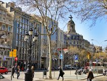 Barcelona traditional architecture, Spain Royalty Free Stock Photos