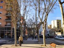 Barcelona traditional architecture, Spain Stock Photography