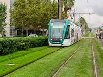 Barcelona tram Stock Images