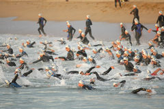 Barcelona Triathlon Stock Photography