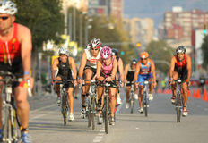 Barcelona Triathlon Stock Photos