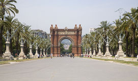 Barcelona - triumph arch Stock Image