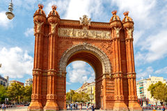 Barcelona. Triumphal Arch. Stock Photography