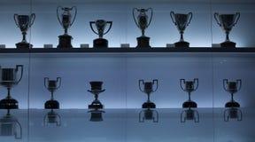 Barcelona Trophies - FC Nou Camp Museum Stock Images