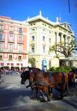 Barcelona uliczna scena, Hiszpania Fotografia Royalty Free