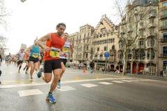 Barcelona maraton obraz royalty free