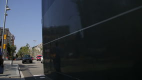 Barcelona Urban Scene Time Lapse. Vehicles on the streets and squares of the city stock footage