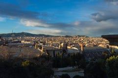 Barcelona van het Nationale paleis stock afbeeldingen