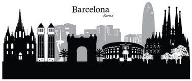 Barcelona. Vector illustration of the skyline cityscape of Barcelona, Spain, Europe Stock Photo