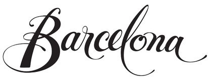Barcelona. Vector version of my own calligraphy Stock Photography
