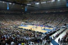 Barcelona versus de Non-conformisten van Dallas Stock Foto's