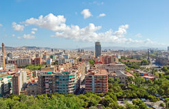 Barcelona view Stock Images