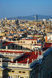Barcelona view. Aerial view of Barcelona, taken from Columbus Monument Royalty Free Stock Photography