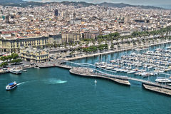 Barcelona, view from the air Royalty Free Stock Photos