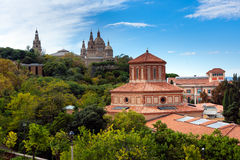 Barcelona. View on the Archeology Museum and Museum of Art Stock Photography