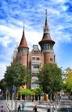 House with spires in Barcelona city Stock Photos