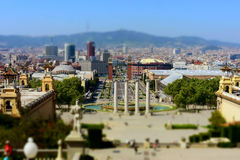 Barcelona view. View from the balcony of Barcelona Stock Photography