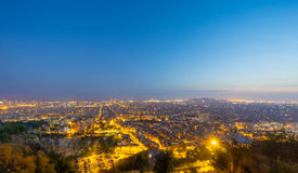 Barcelona view from Carmelo bunker. Urban landscape of the city of Barcelona Stock Photography