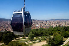 Barcelona. View of the city from Montjuic funicular. Stock Photo