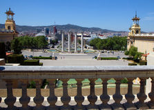 Barcelona. View of the city from Montjuic Stock Photo