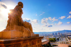 Barcelona View From Catalunya Royalty Free Stock Image