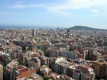 Barcelona - View From La Sagrada Familia Royalty Free Stock Images