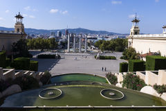 Barcelona view from MNAC Stock Photos