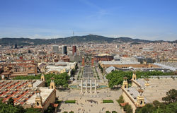 Barcelona view from Montjuic Royalty Free Stock Photo