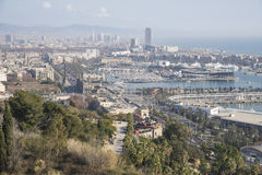 Barcelona view. From montjuic. Many of the most famous buildings of the city appear on this view Stock Photo