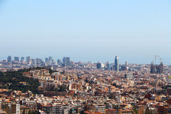 Barcelona view Royalty Free Stock Images
