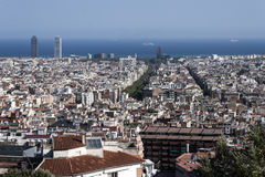 Barcelona view from parc guell Royalty Free Stock Photos