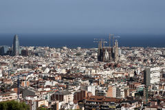 Barcelona view from parc guell Stock Images