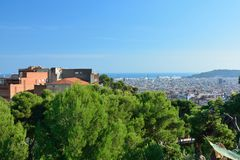 Barcelona, view from park Güell Stock Image